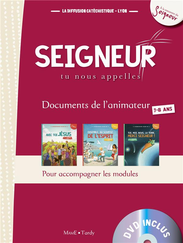 7-8 ANS - DOCUMENT ANIMATEUR ROUGE +DVD - MODULES 1 A 3